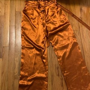 Heartloom Wide Leg Orange Pants